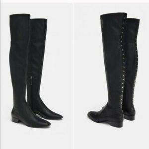 ZARA Studded OTK Boots